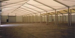 Inside Edwards AFB, CA Side by Side Structure | Temporary Warehouse Structures