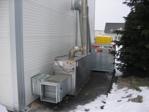 HVAC unit | Temporary Warehouse Structures | Houston TX