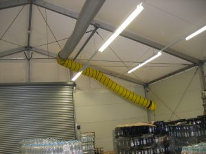 HVAC duct work | Temporary Warehouse Structures | USA