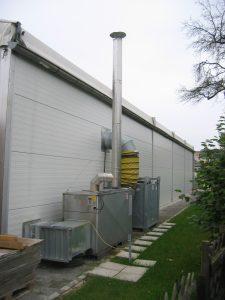 HVAC unit exterior building | Temporary Warehouse Structures